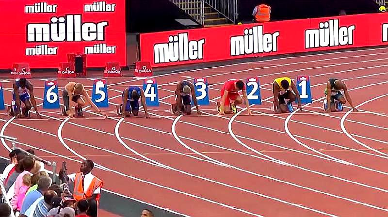 回顾:2018首届田径世界杯,男子100米决赛,超级精彩!